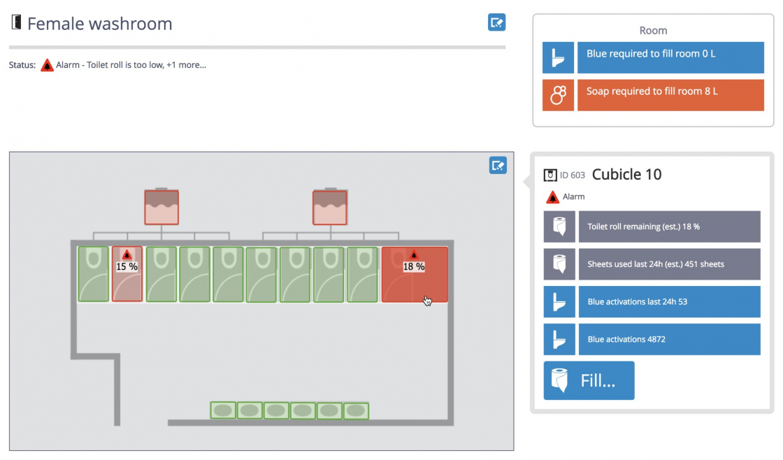 Schematics: diagrams with live IoT data superimposed on a